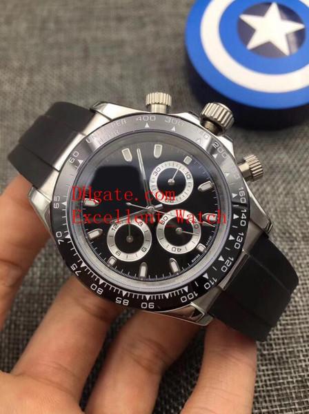 8 relojes de moda de estilo 40 mm 116519 116503 116509 116518LN Bisel de cerámica Asia 2813 Bandas de goma mecánicas automáticas Relojes para hombres