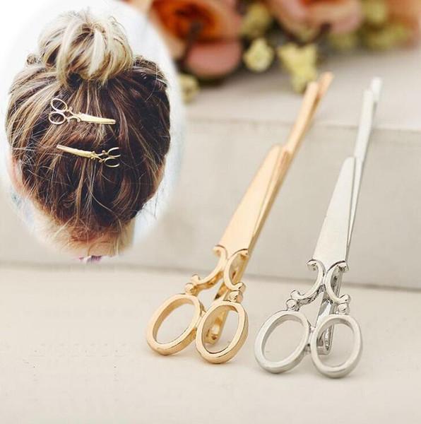 Оптовая персонализированные творческие супер милые маленькие ножницы шпилька заколка для волос ювелирные изделия бесплатная доставка