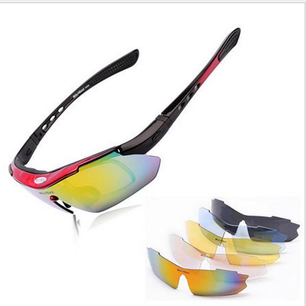 8e78f0a1a8 WOLFBIKE Polarizado 5 Lentes Ciclismo Gafas Gafas de Sol Hombres Deportes  Gafas de Bicicleta Gafas de