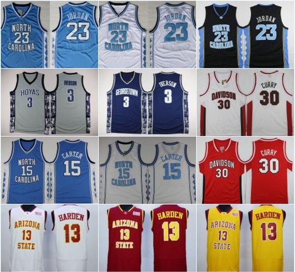 f68bd40b9 2019 Men S Wholesale NCAA North Carolina Tar Heels  23 Michael Jersey  15  Vince Carter 30 Stephen Curry  3 Allen Iverson College Basketball Jerse  From ...