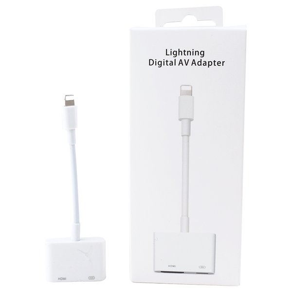 High quality Apple HDMI Digital AV Adapter Cable Converter for Iphone with retail box free DHL