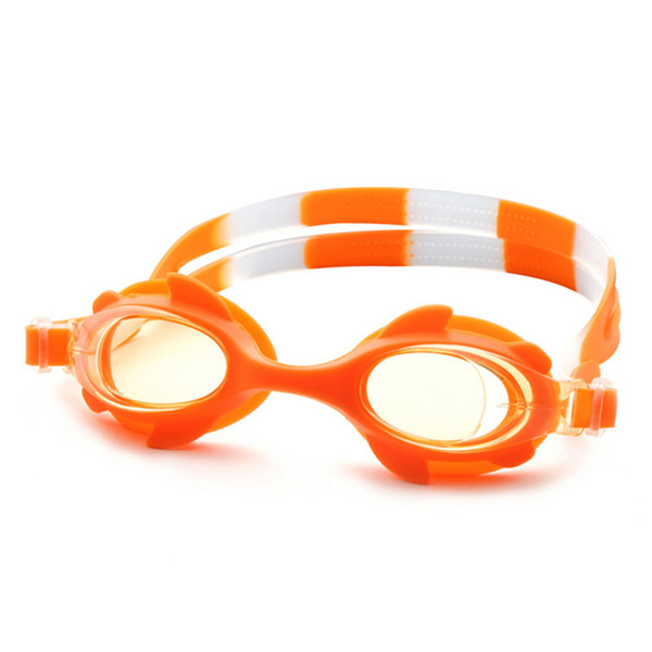 top popular Summer Colorful Silicone Watertight Anti-Fog Children Kids Boys Girls Swimming Goggles Swim Eyewear Swim Glasses Free Shipping 2021