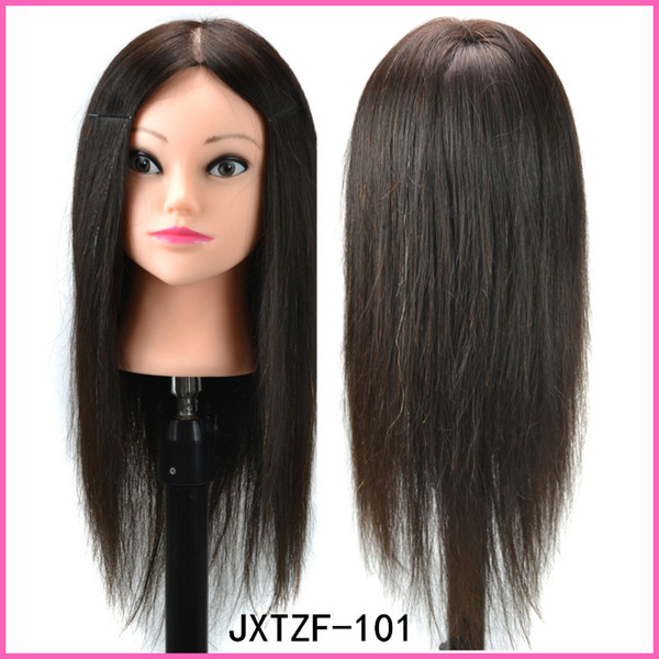 100% human hair natural blackTraining Hairdressing Doll Mannequins Human Heads Of The Dummy Hairstyles Training Mannequin Head