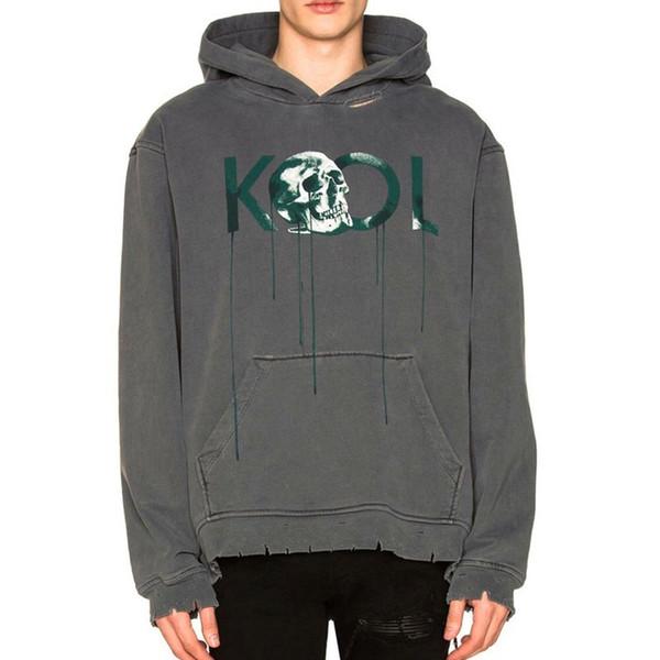 18FW ALCHEMIST KOOL Skull Hoodie GD Hoodies de lujo de manga larga con capucha ocasional sudadera con capucha Street Couple Sweater HFYMWY137