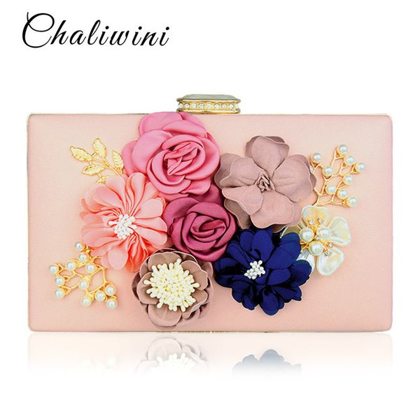 Chalwini Women Clutch Bag Ladies Black Evening Bags Ladies Royal Blue Day Clutches Purses Female Pink Wedding Bag Y18103004