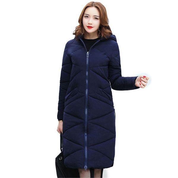 2017 Plus Size 5XL Long Loose Parka Lady Fashion Hooded Winter Coat Women Thick Cotton Padding Warm Winter Jacket Women Outwear