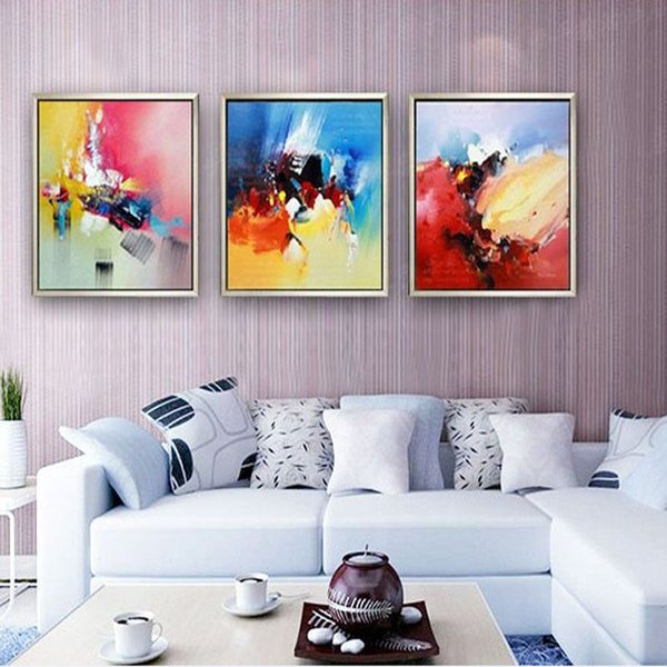 Modern handmade oil painting Wall art living room wall decor abstract oil painting on canvas pictures for home room decoration