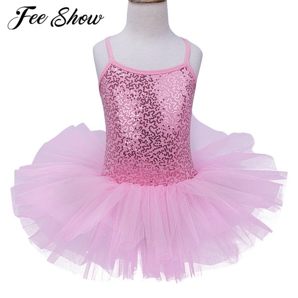 2017 New Swan Lake Ballet Dress Pancake Sequined Professional Ballet Tutu Dancewear Girl Dance Costume Dress For Children