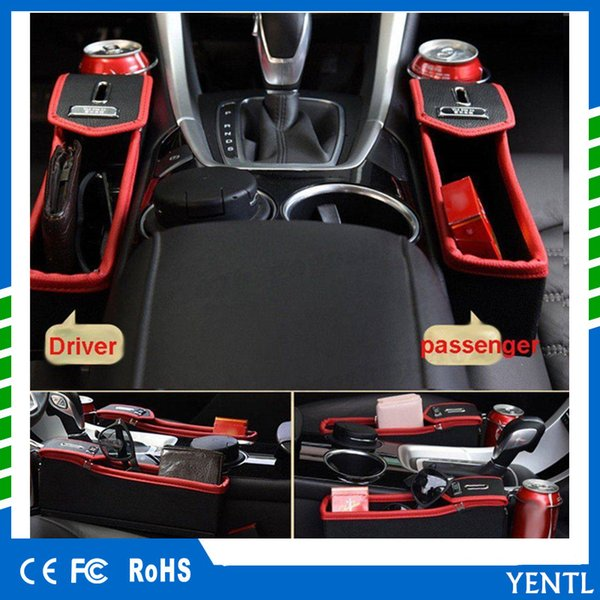 free shipping Car Passenger Left Right Side Multifunction Seat Gap Catcher Coin Collector Cup Holder Storage driver seat co driver seat