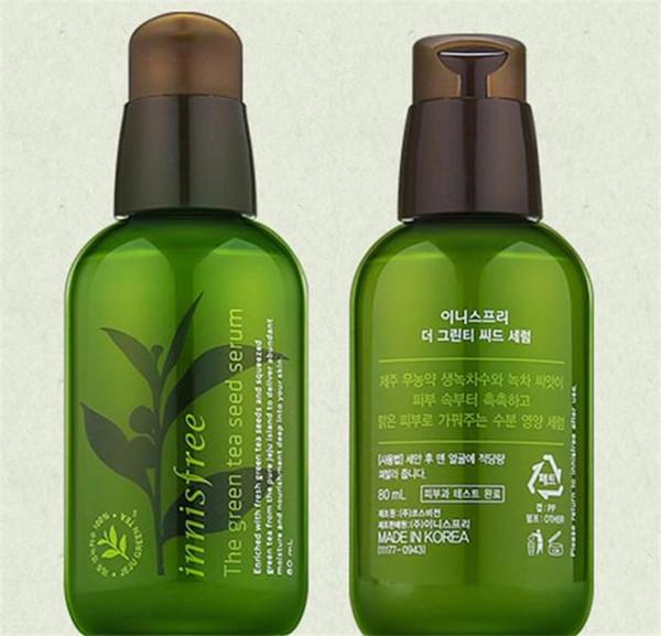 Горячие продать INNISFREE Корея бренд зеленая бутылка крем Зеленый чай семян сыворотка увлажняющий уход за лицом лосьон 80 мл новый уход за кожей лица Крем