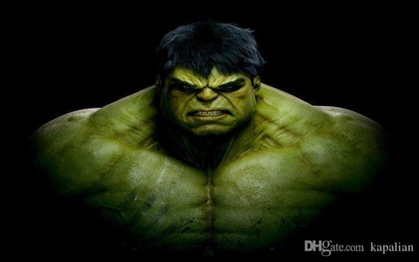 Free Shipping The Incredible Hulk Hero Of Marvel Comics High Quality Art Posters Print Photo paper 16 24 36 47 inches