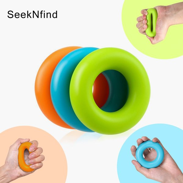 1PCS 7cm Strength Hand Grip Ring Muscle Power Training Rubber Ring Fitness Body Building Carpal Expander Training Finger