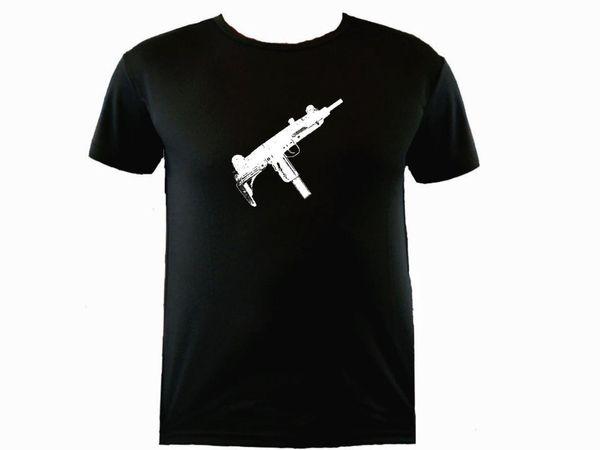 UZI İsrail tüfek ter geçirmez polyester egzersiz t-shirtFunny Kısa Kollu Tişörtleri Yaz Hip Hop