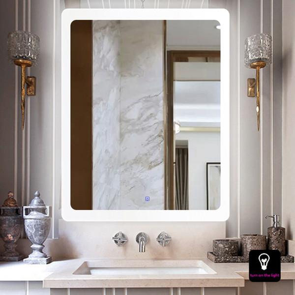 Acheter Salle De Bain Européenne Antifog Touch Miroir Applique Murale  Toilette Suspension Led Lampe Imperméable Salon De Beauté Dressing Miroir  Mural ...