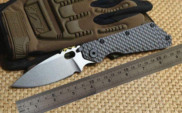 Engranaje exterior ST SMF Carpeta Mango de titanio Hoja D2 Arandelas de cobre Tactical Cuchillo plegable caça sobrevivê Facas EDC auto-defesa Ferrament