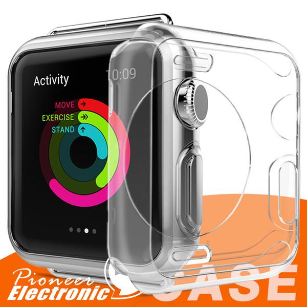 Para Iwatch 4 Case 40mm 44mm 3D Touch Ultra Clear Soft de TPU Cover Bumper Apple Watch Series 4 Protector de pantalla para Apple Watch 4 nuevos casos