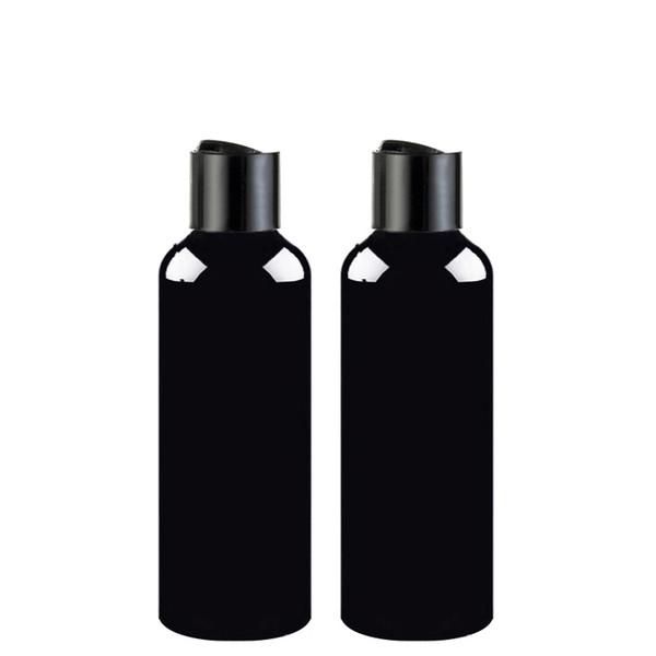 100мл 150мл 200мл 250мл 300мл Пустые контейнеры для шампуня с верхней крышкой черного диска, крышкой для прессования бутылок для черных домашних животных, косметической упаковкой, бутылкой для шампуня