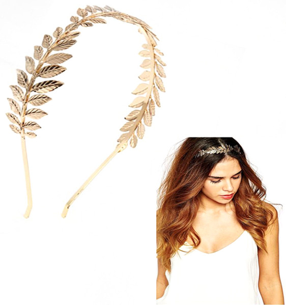 Across the border Europe and the United States golden leaf hair hoop, jewelry fashion gold leaf hair ornaments wholesale