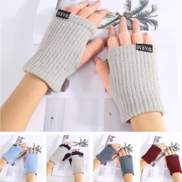 High quality Winter Unisex Arm Warmer Elbow Long Fingerless Mitten Knitted Soft Gloves 50pcs/lot T2C044