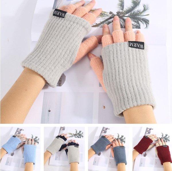 High quality Winter Unisex Arm Warmer Elbow Long Fingerless Mitten Knitted Soft Gloves 50pcs/lot T2C044