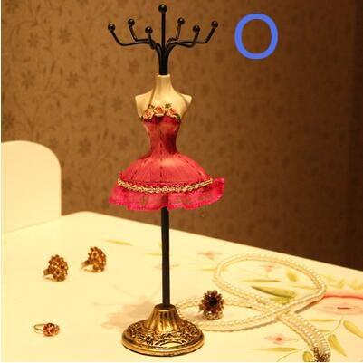 wholesale 4 style European Princess Model Decoration Earrings Display Stand/Necklace Frame Creative Jewelry gift Female mannequin 1pc C549