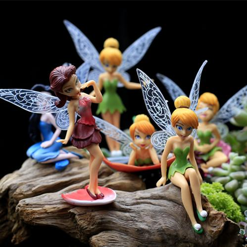 Hermoso Kawaii 12 Pièces Modèles Fairy Jardin Miniatures Princesse Artisanat Miniature Fée Figurines Jardin Décoration R001