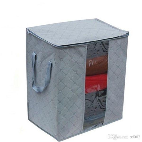 Funzione rimovibile pieghevole Sacchetto di immagazzinaggio dell'organizzatore dell'abbigliamento di bambù del carbone di legna Non tessuto Immagazzina i sacchetti Anti rimozione statica dei batteri 3 8gn dd