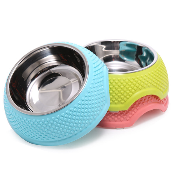 Hearts Pet Bowl Stainless Steel Dog Feeder Plastic Puppy Cat Food Bowls Beautiful Water Container for Dogs Pet Products 3 Colors
