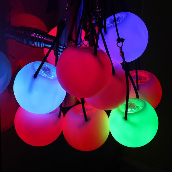 2 Pièces Balls Performance sur scène LED POI Lance Boules pour Danse Du Ventre Niveau Accessoires Main Danse Du Ventre Accessoires