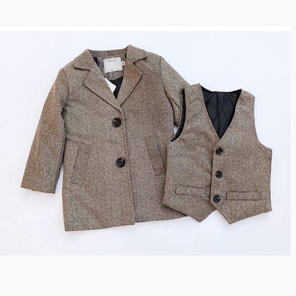 b6a01a728 2019 Winter Baby Boy Clothes Set Thick Wool Windbreaker Long Jackets ...