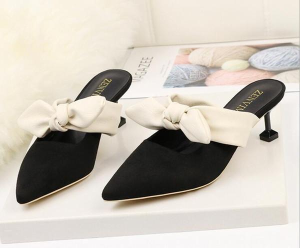 Women Sandals High Heels Summer Women Shoes Gladiator Sandals Block Heels Pearl Strap Women Pumps Chunky Heels Shoes Bowtie Slippers