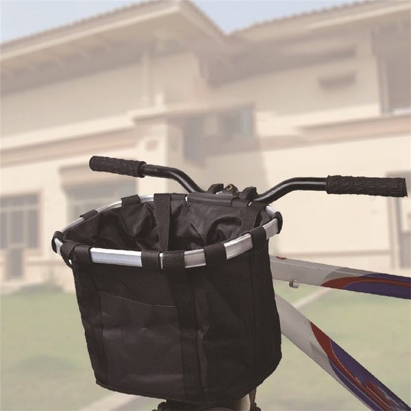 Bicycle Basket Handlebar Bicycle Pannier Bike Front Top Tube Baggage Bag Aluminum Alloy Carrier For Carrying Pet Pouch