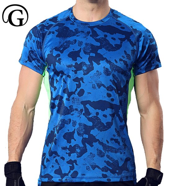 PRAYGER Men Male Compression short sleeve T-shirts High Elastic body shapers Tight tops slimming underwear