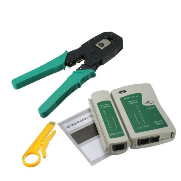 New Professional RJ45 RJ11 RJ12 CAT5 CAT5e Portable LAN Network Tool Kit Utp Cable Tester AND Plier Crimp Crimper Plug Clamp PC