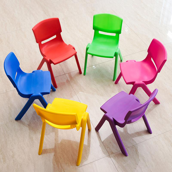 best selling 5 PCS H27cm Children back chairs kindergarten chairs baby chairs stools plastic stools folding backrest stools
