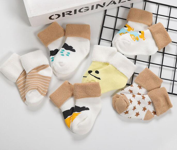 2018 NEW Cotton Baby socks Winter socks boy girl for new cartoon baby socks free shipping high quality 2018 new hot sale wholesale 1 pair