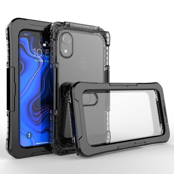 wholesale Waterproof Phone Case for iPhone XR 10m Underwater Waterproof Pouch Case for iPhone XR 6.1 inch Dirt/Dust/Snow Proof Case