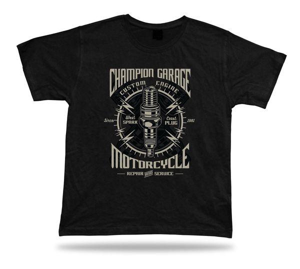 Bujía de la motocicleta camiseta fresca camiseta idea del diseño unisex toda la ropa del tamaño Envío libre divertido Unisex regalo ocasional de la camiseta