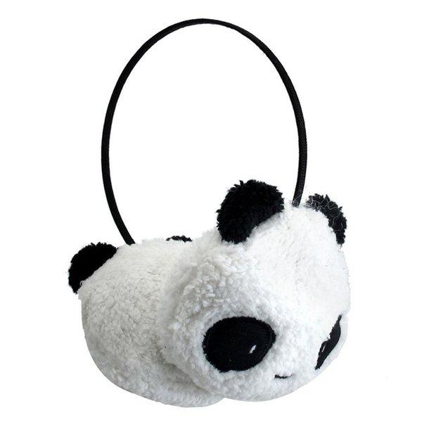 Зимние наушники для женщин новые симпатичные большой пушистый мех плюшевые Панда наушники зимние уха теплая дамы женщины девушки