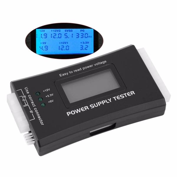 Freeshipping 1Pc Computer PC Alimentazione Tester Checker 20/24 pin SATA HDD ATX BTX Meter LCD Wholesale Store