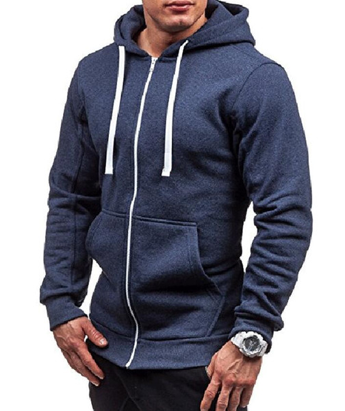 Großhandel New Men's Hoodies Pullover Hoodie Designer Herren Sweatshirt Reißverschluss Mit Kapuze Lässige Pullover Jacke Herren Einfarbig Strickjacke