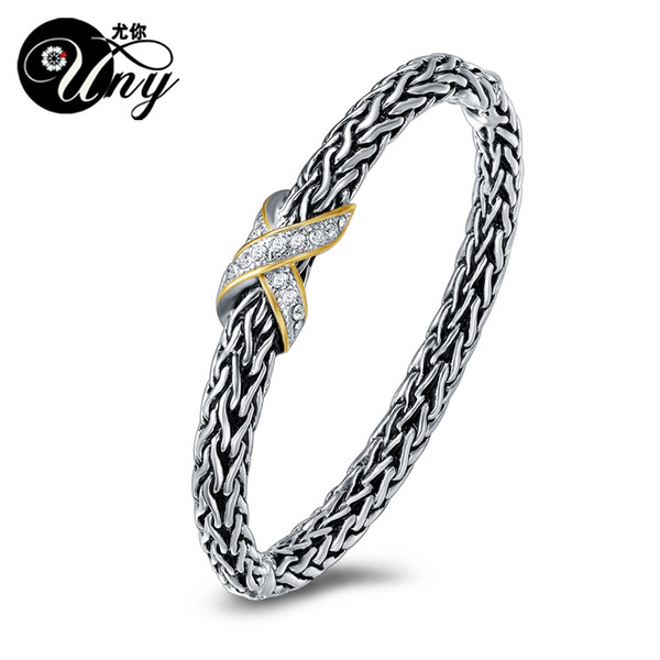 UNY Bracelet Antique Fox Tail Chain Bangle Fashion Brand Hardy jewelry Vintage Bangles Valentine Christmas Free Ship Bracelets
