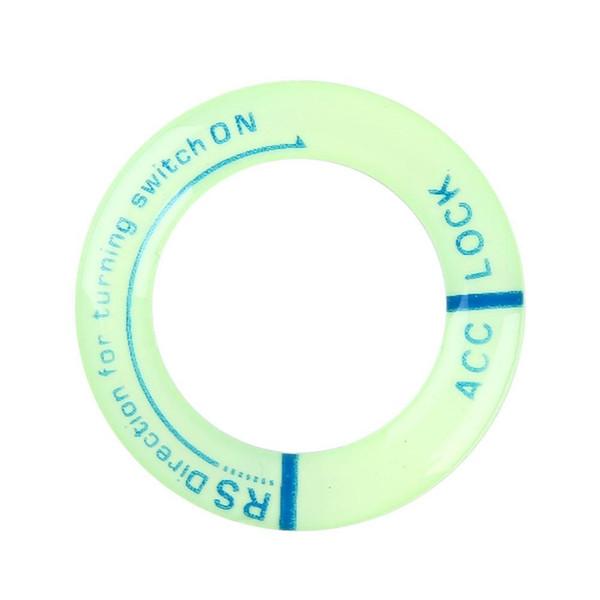 Luminous Auto Zündschlüssel Ring Coil Aufkleber Schalter Abdeckung Auto Styling Kreis Licht Schlüsselanhänger für Ford Chevrolet Toyota Honda