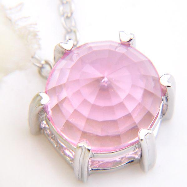 5PC New Charm Handmade Wing Pendants Guardian Angel Pink Crystal Glass