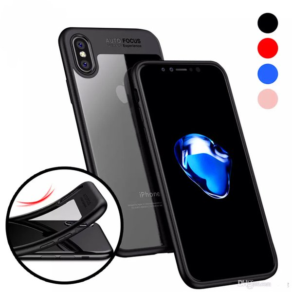 For iphone x case iphone 8 7 6 6s plus luxury phone case Clear Slim Back with Shockproof Bumper PC TPU Hybrid Case