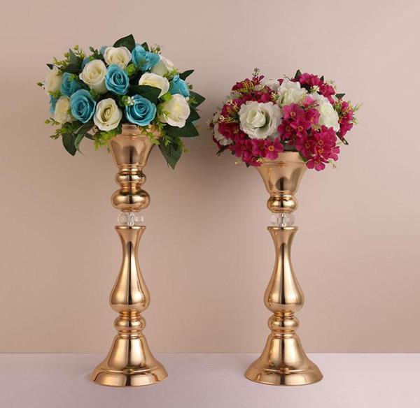 Accessoires de mariage fleur route plomb fer fleur vase stand table de mariage centres de table décoration événement fête hôtel scène décoration SN1170
