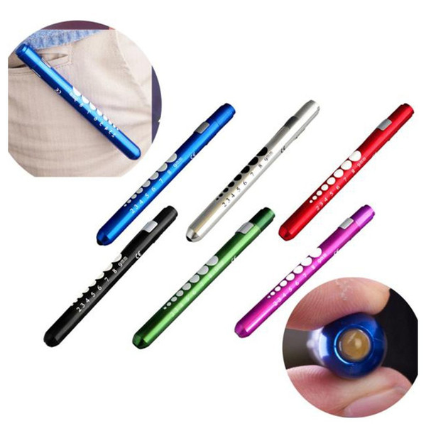 top popular 7 Color Flashlights White Yellow Beam Torches LED Pen Light Flashlight Torch Doctor Nurse EMT Emergency 2021