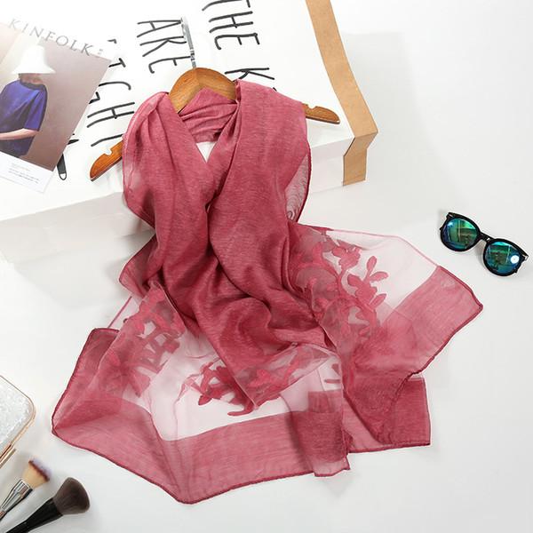 Wholesale 65*180cm 10 Colors Organza Artificial Silk Designer Scarf Women Hijab Shawls Pashmina Wrap Scarf Table Blanket Beach Towel