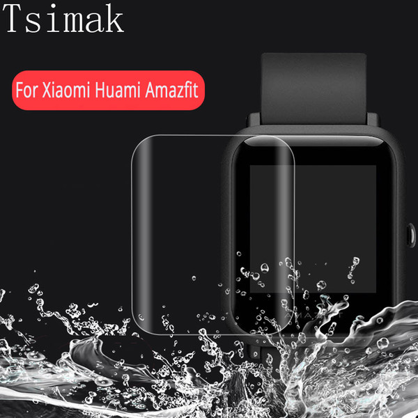 3D Full Cover For Xiaomi Huami Amazfit Bip BIT PACE Lite Smart Watch Screen Protector Film Amazfit Bit Soft HD Protective Film