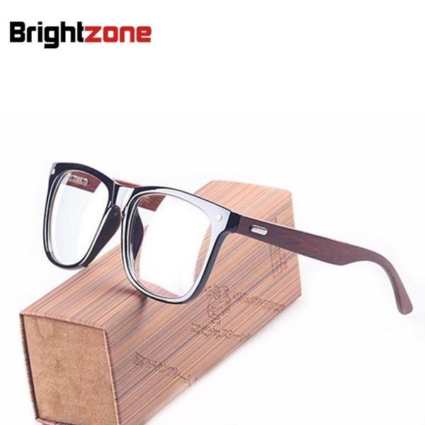 Vintage S. F Holz Arme Big Face Größe Männer Frauen Optische Brillen Brillen Brille Brille Rezept RX-fähigen Rahmen